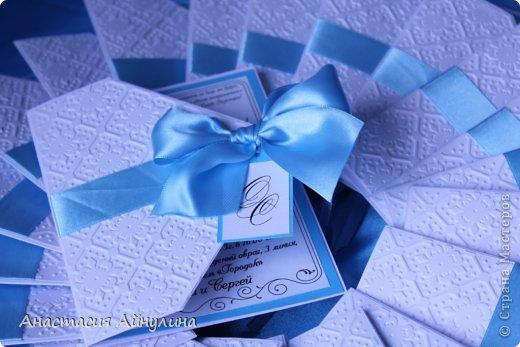 Свадебные приглашения, и снова в коробке. Идея коробочки взята у еще одной мной очень любимой мастерицы, Анастасии Костиной - http://vk.com/scrap_present фото 5