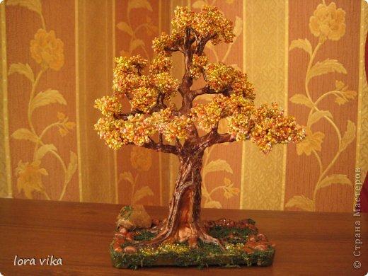 Бонсай топиарий Бисероплетение Моделирование конструирование Деревья из бисера Бисер фото 3.