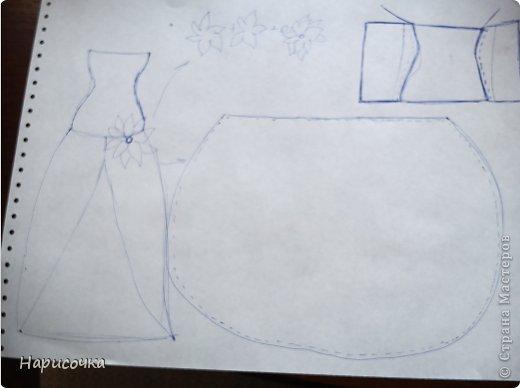 Привет Страна Мастеров! Недавно я сделала для своей куколки Найт лёгкое красивое платье. фото 7