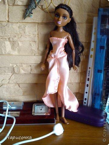 Привет Страна Мастеров! Недавно я сделала для своей куколки Найт лёгкое красивое платье. фото 17