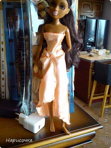 Привет Страна Мастеров! Недавно я сделала для своей куколки Найт лёгкое красивое платье. фото 18