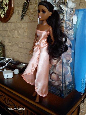 Привет Страна Мастеров! Недавно я сделала для своей куколки Найт лёгкое красивое платье. фото 19