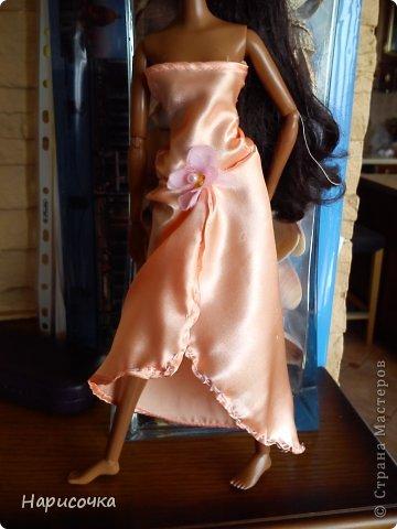 Привет Страна Мастеров! Недавно я сделала для своей куколки Найт лёгкое красивое платье. фото 22