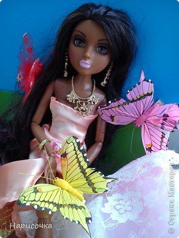 Привет Страна Мастеров! Недавно я сделала для своей куколки Найт лёгкое красивое платье. фото 23