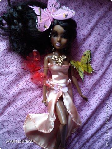 Привет Страна Мастеров! Недавно я сделала для своей куколки Найт лёгкое красивое платье. фото 25