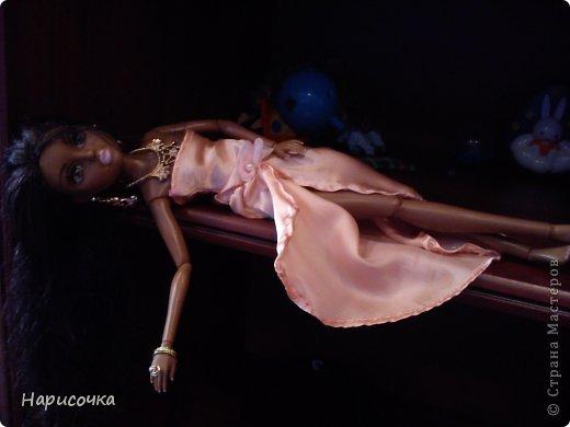 Привет Страна Мастеров! Недавно я сделала для своей куколки Найт лёгкое красивое платье. фото 4