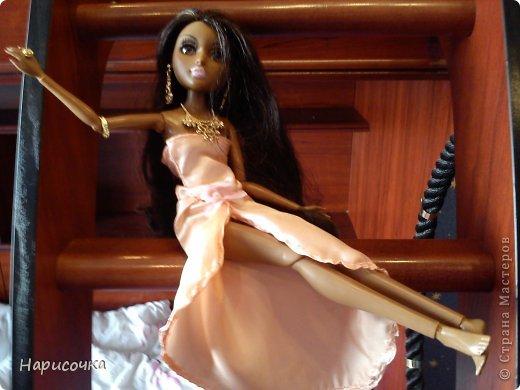 Привет Страна Мастеров! Недавно я сделала для своей куколки Найт лёгкое красивое платье. фото 3