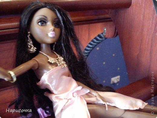 Привет Страна Мастеров! Недавно я сделала для своей куколки Найт лёгкое красивое платье. фото 2