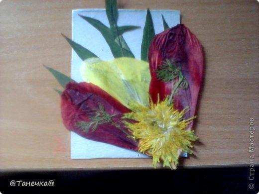 """КАРТОЧКА АТС """"вдохновение природой""""Гирбарий фото 2"""