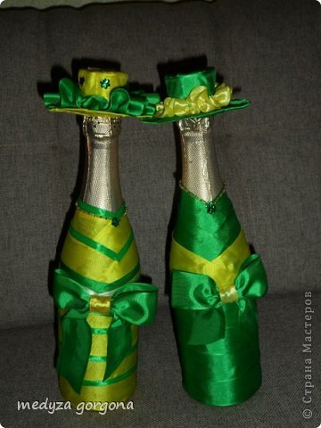 украшенные бутылки фото 1