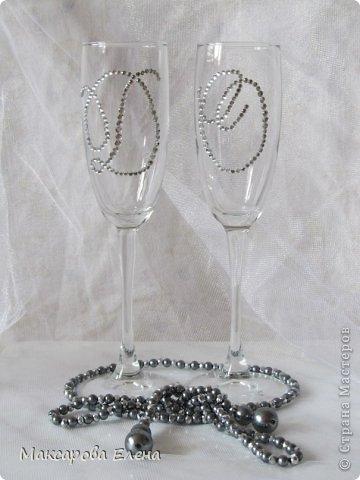 Эти бокалы я делала на собственную свадьбу так сказать первый опыт решила попробовать и вошла во вкус))) фото 11