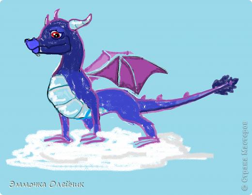 Это НЕбесный дракон.Его стихия-воздух.Он может вызывать ураганы,бури,сильный ветер.