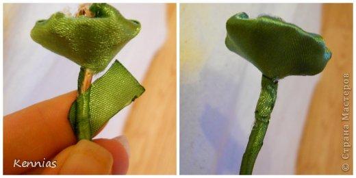 Здравствуйте!)В инете не нашла нормальный МК розы на стебле, поэтому решила сделать сама)Может в своей работе я пошла по сложному пути (если кто-то знает как легче сделать, поделитесь), но все-же))Прошу любить и жаловать!) фото 23