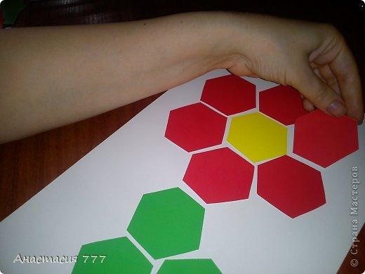 """1 класс. Мозаика """"Цветочек""""!  фото 4"""