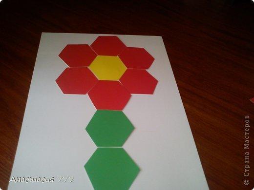 """1 класс. Мозаика """"Цветочек""""!  фото 9"""