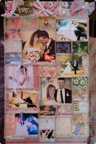 Вот такая свадебная рамка получилась! фото 3