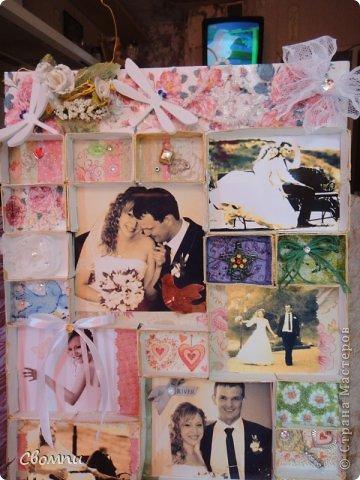 Вот такая свадебная рамка получилась! фото 4