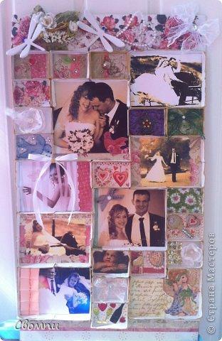 Вот такая свадебная рамка получилась! фото 5