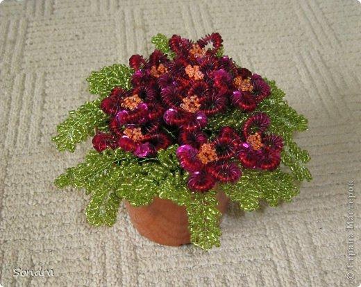 цветочки из бисера и паеток фото 2