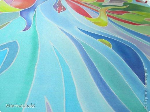 Еще один радостный платочек в технике батик поднимает настроение и исполняет мечты... фото 2
