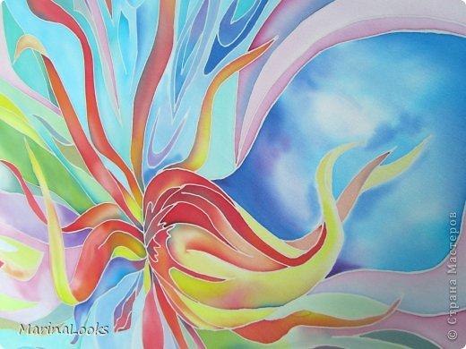 Еще один радостный платочек в технике батик поднимает настроение и исполняет мечты... фото 6