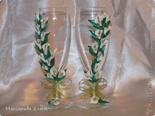 Эти бокалы я делала на собственную свадьбу так сказать первый опыт решила попробовать и вошла во вкус))) фото 13