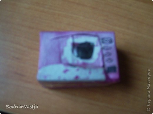 Я сделала вот такую микроволновку из двух внутреностей спичичного коробка. фото 8