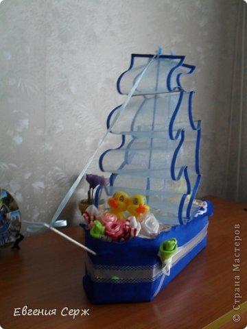 Кораблик из памперсов к (пледу  https://stranamasterov.ru/node/589768 ) фото 5