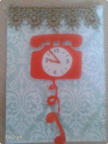 """Представляю свою серию карточек - """"Часы на стене"""".  Первой к выбору приглашается Танюша_003. фото 3"""