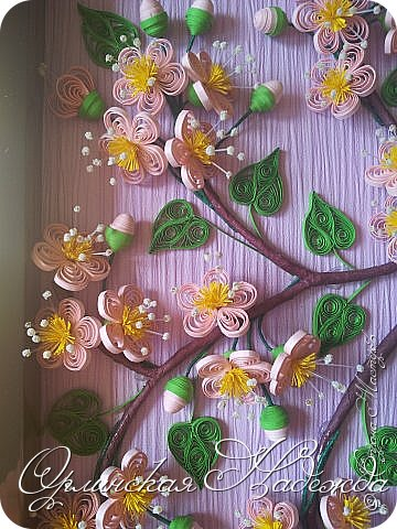 Ещё павлин. Цветы сакуры отсюда: http://pinterest.com/pin/125819383311829955/  Павлин поближе. фото 6