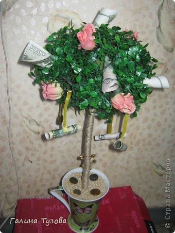 Такое деревце сделала молодой паре на помолвку. фото 4