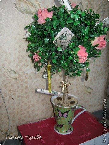 Такое деревце сделала молодой паре на помолвку. фото 1