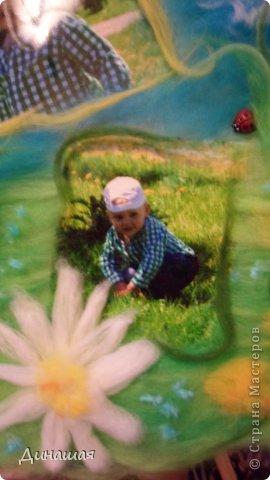 вот такую картину маме сделала от внука)размер 30 на 30(фото без стекла) фото 3