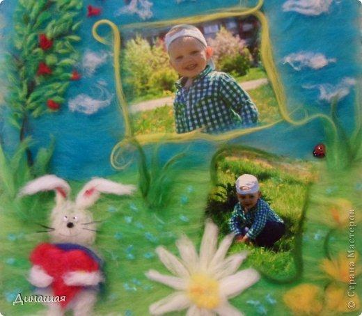 вот такую картину маме сделала от внука)размер 30 на 30(фото без стекла) фото 1