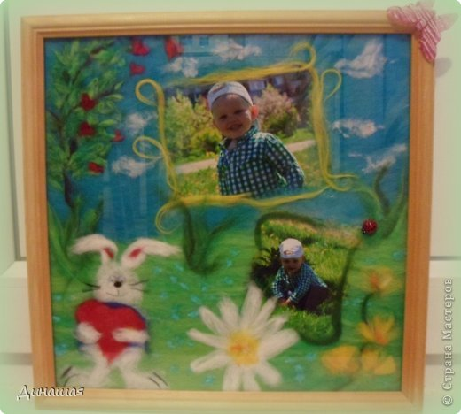 вот такую картину маме сделала от внука)размер 30 на 30(фото без стекла) фото 5