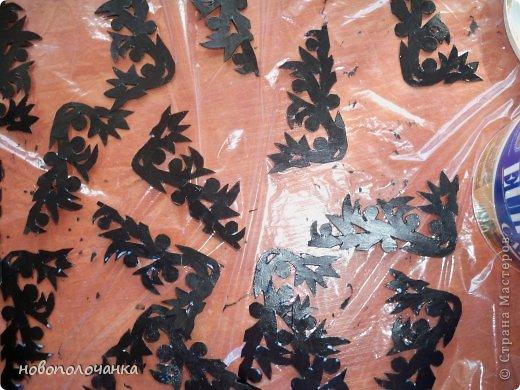 Декор предметов Мастер-класс Поделка изделие Аппликация Артишок Вырезание СУНДУК Бумага Бумага газетная Гуашь Клей Проволока фото 17