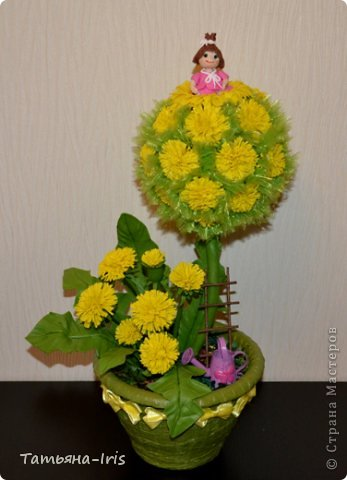 Все одуванчики из холодного фарфора(самодельного). Делала наверно неделю))) Уж больно кропотливая работа с этими цветочками :) фото 1