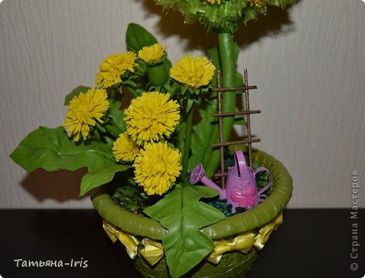 Все одуванчики из холодного фарфора(самодельного). Делала наверно неделю))) Уж больно кропотливая работа с этими цветочками :) фото 2