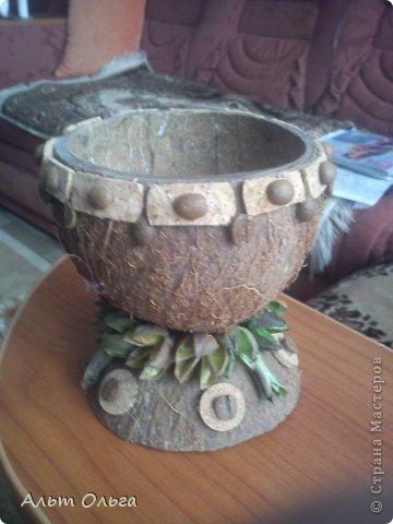 Ваза из кокоса фото 2