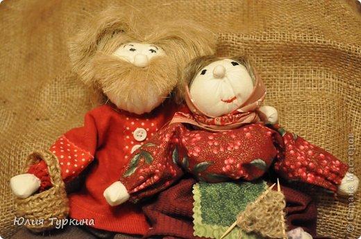 Дед Митюнюшка и бабка Санюшка. куклы выполнены по мастер-классу О.Ремпель фото 3