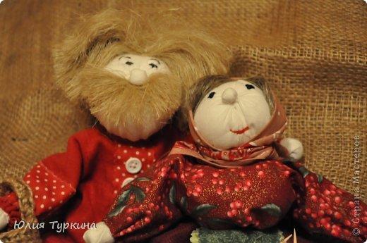 Дед Митюнюшка и бабка Санюшка. куклы выполнены по мастер-классу О.Ремпель фото 2