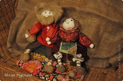Дед Митюнюшка и бабка Санюшка. куклы выполнены по мастер-классу О.Ремпель фото 4