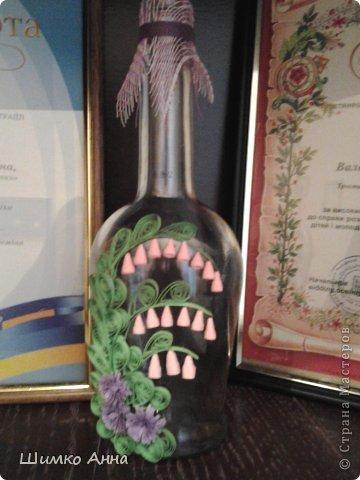 в мои первые работы входит эта бутылочка! работа сделана за час. трудных деталей нет и делается быстро.  фото 1