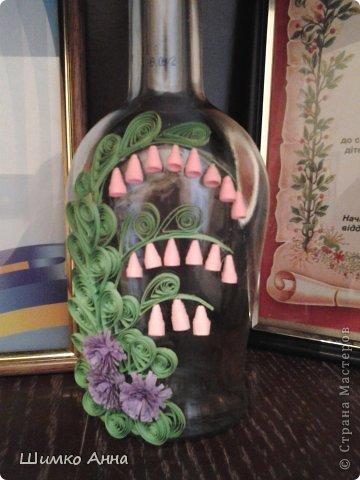 в мои первые работы входит эта бутылочка! работа сделана за час. трудных деталей нет и делается быстро.  фото 2