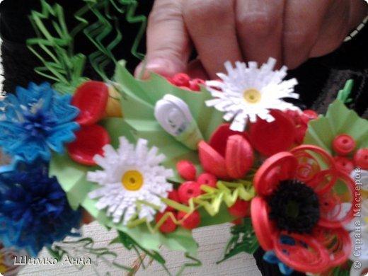 работа на конкурс. получила областную грамоту и работа ушла на Киев. все цветы приклеила на два модульных кольца разных размеров. фото 4