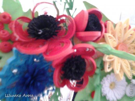работа на конкурс. получила областную грамоту и работа ушла на Киев. все цветы приклеила на два модульных кольца разных размеров. фото 5