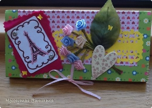 Подарочная упаковка для шоколадки1 фото 1