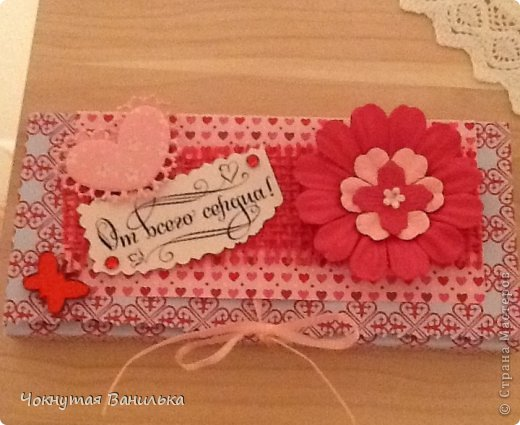 Подарочная упаковка для шоколадки1 фото 4