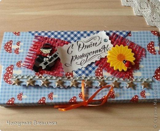 Подарочная упаковка для шоколадки1 фото 5