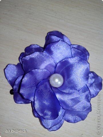 это мои первые цветочки из ткани.обязательно буду ещё тренироваться фото 3